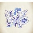 Blue art flowers vector image