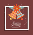 christmas greetings design vector image