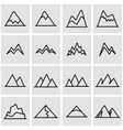 line mountains icon set vector image