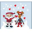 santa cartoon with funny santa claus and vector image