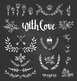 Set isolated hand drawn design elements with vector image