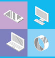 set technogies with data services conecction vector image
