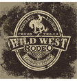 Wild west rodeo vector image