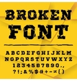 Broken alphabet Full set vector image