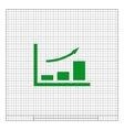 Flat paper cut style icon of a diagram vector image