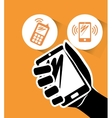 Smartphone mobile technology vector image
