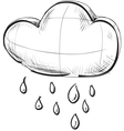 Cloud with rain weather icon vector image vector image