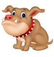 Cute bulldog cartoon vector image