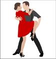 tango dancers 2 vector image