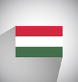 Flat Flag of Hungary vector image vector image