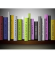 Books on shelf vector image vector image