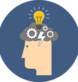 Brainstorming concept Flat design Icon in blue vector image