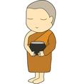 Child monk vector image