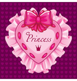 Little princess pink card vector image