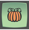 outline pumpkin icon Modern infographic logo and vector image