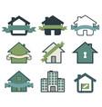 real estate symbol house logos vector image