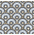 seamless pattern of semi circles vector image
