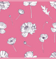 seamless pattern with poppies flower colorful vector image