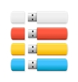 USB Flash Drive Colorful Set vector image