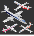 Set of planes vector image vector image