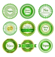 Organic labels badges and stickers vector image vector image