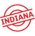 Indiana rubber stamp vector image
