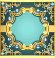 decorative frame with pattern gold pearl vector image vector image