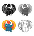 egyptian beetle ancient egyptsingle icons in vector image