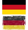 German grunge flag vector image