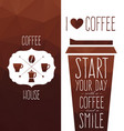 set coffee design elements vector image