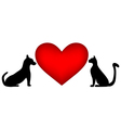 Veterinary symbol with a picture of a cat and dog vector image