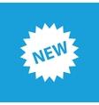 NEW label icon white vector image