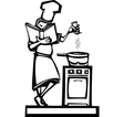 Chef with cookbook vector image vector image