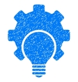 Bulb Configuration Gear Grainy Texture Icon vector image
