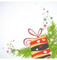 Christmas gifts corner decoration vector image