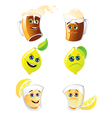Funny drinks vector image