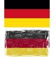 German grunge flag vector image