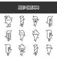 ice-cream flat icons set vector image