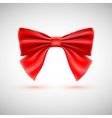 Red festive bow vector image