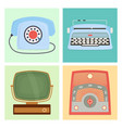 retro vintage household appliances antique vector image