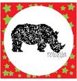 rhinoceros black 8-bit dog standing vector image