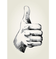 Sketch of a thumb up vector image