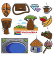 south africa travel tourism landmarks and african vector image