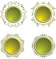 floral vintage button vector image