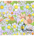 Beautiful summer flowers vector image