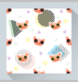 Animal seamless pattern collection with piggy 2 vector image