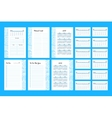 To do list Template 2017 vector image