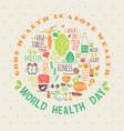 World health day vector image