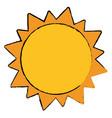 sun solar system astrology vector image