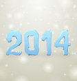 Ice New Year white background 2014 vector image